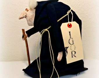 Primitive Halloween Doll - Hunchback Igor Doll - Primitive Doll - Halloween Decoration - Monster Doll - Primitive Halloween Decor - Old Man