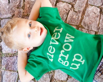 Never Grown Up, Toddler Kids shirt, sizes 12m to 8, High Quality, Free shipping,  click for colors