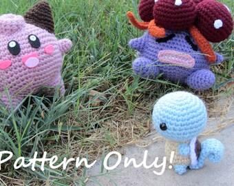 PATTERN - Crochet - Chibi Pokemon Amigurumi - Squirtle