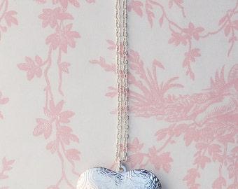 Large Silver HEART LOCKET Pendant Silver Wedding Bridal Bridesmaid Gift  LOVE Photo Locket Bridesmaid Jewelry