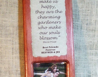 Personalized wall plaque message photo gift -Friends1