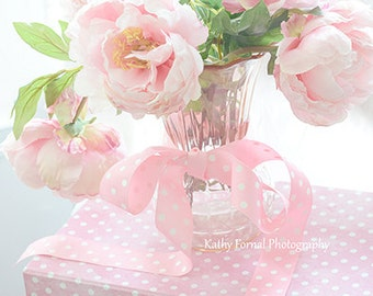 Pink Peonies Photography, Baby Girl Nursery Decor, Dreamy Pink Peony Flowers, Shabby Chic Decor, Romantic Pink Peonies, Bedroom Floral Art