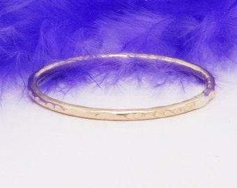 10k solid gold ring, textured with lines, stack skinny ring, yellow, white or rose gold