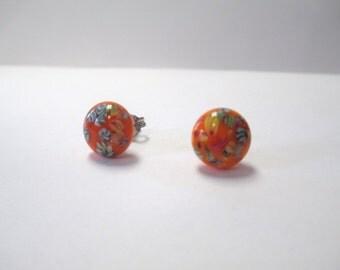Vintage 60's Italian Glass Dot Earrings DEADSTOCK