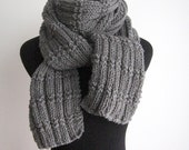 Hand Knit Scarf - Made to Order - Knit Long Scarf Vegan Scarf, Mens Scarf Winter Accessories, Womens Scarf Winter Scarf