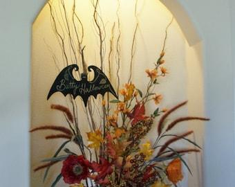 Chalkboard Bat Halloween Decoration