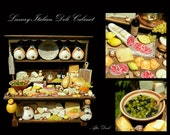 Gourmet Italian Deli Cabinet - Artisan fully Handmade Miniature in 12th scale. From After Dark miniatures.