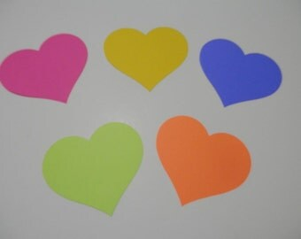 Hearts Die Cuts, Hearts Punches, Hearts Party Decor, Large Heart Punches, Heart Cake Topper 24 Total