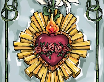 Immaculate Heart Of Mary Prayer Card