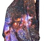 Oversized Milky Way Galaxy Scarf, Infinity Scarf