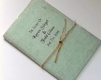Book Invitation Rustic Wedding Invite made like a Vintage Booklet Unique Bridal Stationery