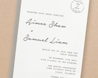 Printable Wedding Invitation Template | INSTANT DOWNLOAD | Parcel | Word or Pages | Easy DIY | Editable Artwork Colors