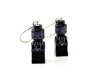 Darth Vader Earrings made from Genuine Star Wars LEGO (r) Microfigs