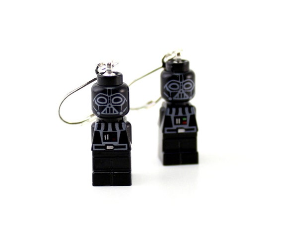 Darth Vader Earrings made from Genuine Star Wars LEGO® Microfigs