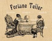 Fortune Teller Crystal Ball Magic Divination Medium Tarot Cards Clairvoyant Instant Download Digital Image Transfer