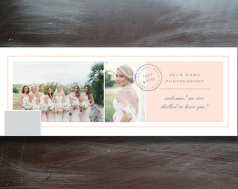 Photographer Facebook Timeline Template and Blog Header - Instant Download - f0022