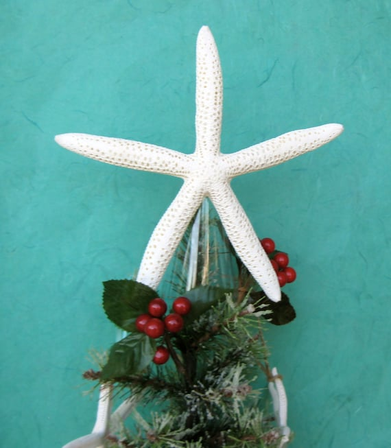 Starfish Tree Topper - Choose Natural, Clear Glitter, or Crystal - 7 ...
