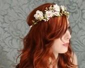 Boho bridal crown, wedding headpiece, woodland crown, floral crown, bridal hair accessory
