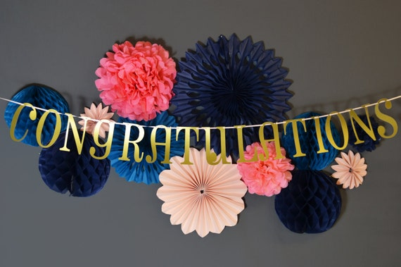 Congratulations custom colour wedding banner