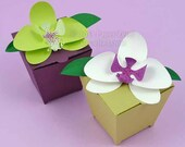 Orchid Cards and Gift Box - Wedding, Birthday, Anniversary - Paper Gift Box Die Cutting with SVG files and PDF