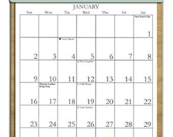 2017 CALENDAR - Wolf  Wooden Calendar Holder filled with a 2017 calendar & an order form page for 2018.