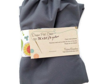 Stone Grey Cloth Diaper Pail Liner: 8 Gallon