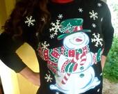 Snowman amazing vintage Ugly Christmas long sleeve shirt