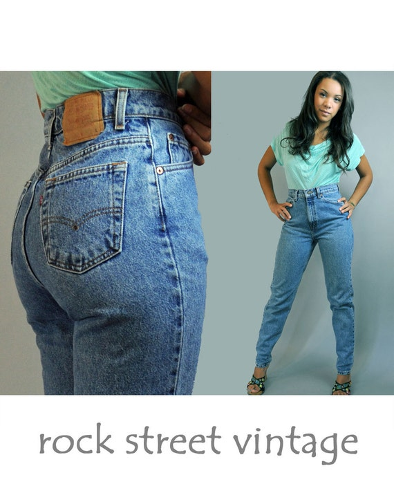 Like this item? - Vintage 80s High Waist Jeans Womens Levis 512 Distressed Denim