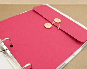 Keepsake Envelope - Raspberry -  Include in your Two Giggles Baby Album