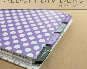 Purple Album Dividers Set  - Include in your Two Giggles Baby Album