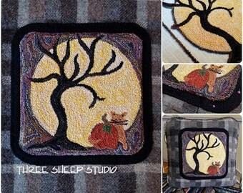 Punchneedle Pattern - Harvest Moon - #PN522 - Needlepunch Embroidery