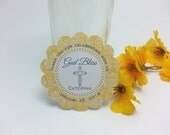 CROSS tags - baptism, communion, christening, confirmation - Mellow Yellow