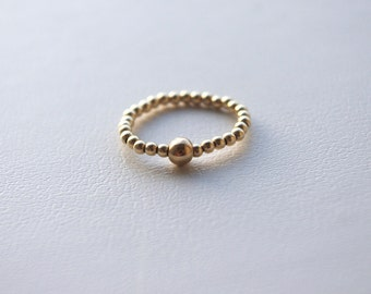 Gold Stretch Ring, Elastic Ring, Tiny Gold Filled Ring, Stackable Gold Ring, Easy to Put on and Off Ring, Womens Gift, Made In Sweden