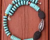 Turquoise Necklace, Turquoise Statement Necklace