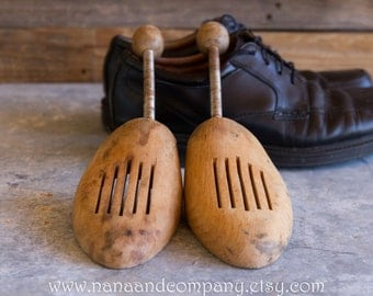 Vintage Wood Shoe Stretchers - Worn but good condition - Father's Day gift