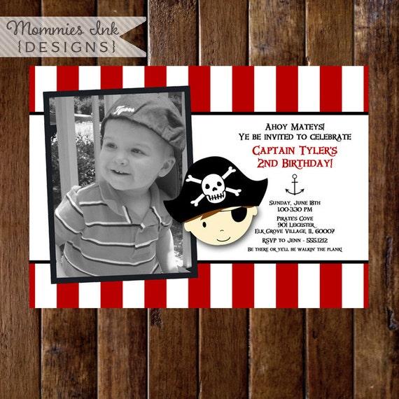 Pirate Birthday Invitation - Pirate Party - Pirate Invite - PRINTABLE INVITATION DESIGN