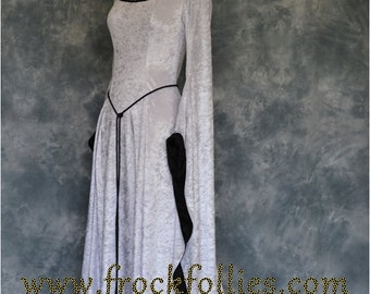 "Medieval handfasting gown, Renaissance gown, Pre- Raphaelite dress, robe medievale, elvish gown, pagan wedding dress, ""Freya"""