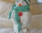 Adorable Snowman Sculpture