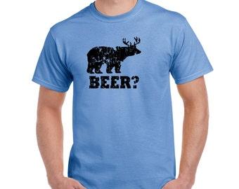 Boyfriend Gift BEER Shirt Husband Gift Valentines Gift Deer Hunting Gift Drinking Shirt Craft Beer Gifts Fathers Day Gift Boyfriend Tshirt