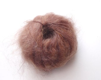 brushed Mohair 50 gr brown shades for doll hair, wig