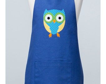 Tween Appliqué Apron with Owl