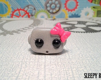 Robot Ring pink bow