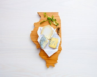 Illinois State Cutting Board,Father's Day Gift,   Unique Wedding Gift, Personalized Gift, Summer Wedding GIft, Graduation Gift
