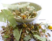 calm herbal tea with organically grown ingredients