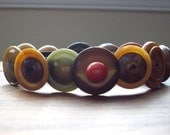 Button Bracelet made with Vintage Vegetable Ivory Buttons