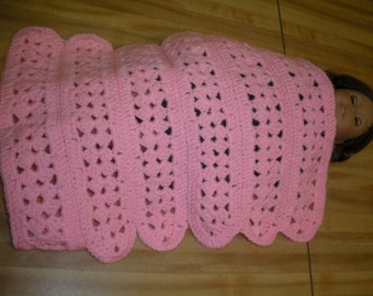 Crochted doll blanket