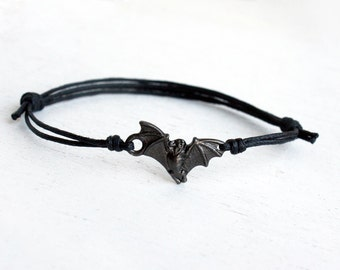 Bat Bracelet, Bat Anklet (many cord color to choose)
