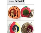 Sew & Make Butterick B4949 SEWING PATTERN - Dog Cat Pet Round Hideaway Novelty Ball Beds