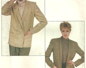 Vogue 2985 // Vintage Designer Sewing Pattern // Tailored Jacket By Anne Klein // Size 12 Bust 34