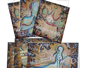 Set of 6 Soulful Yoga Note Cards - Variety Pack